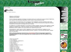 Vegan Québec propose plusieurs recettes à saveur québécoise.