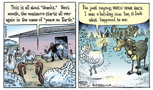 bizarro - thanksgiving and christmas