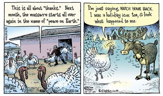 bizarro - thanksgiving and christmas