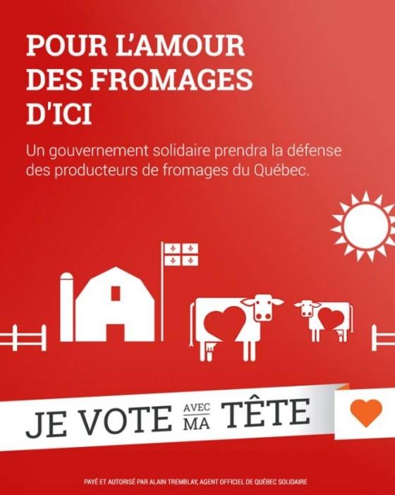 québec solidaire - pour l'amour des fromages d'ici