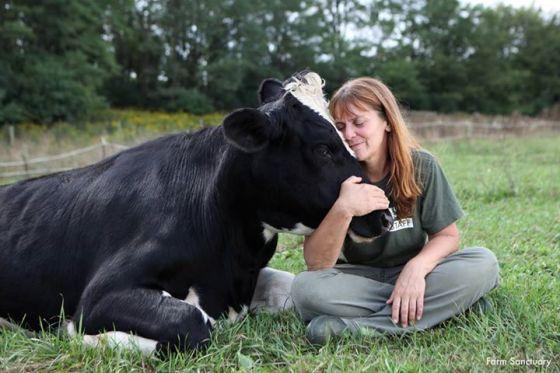 Susie Coston de Farm Sanctuary a de la compassion — ce que tout professionnel relié aux animaux devrait avoir.