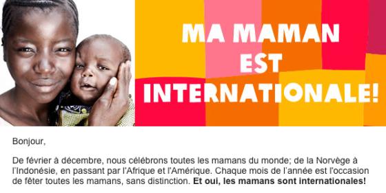 Oxfam - Fête des mères 2014