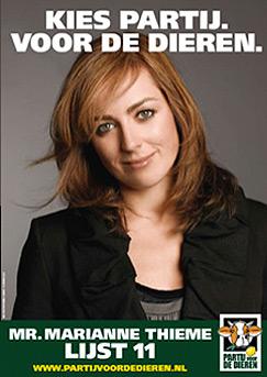 Marianne Thieme, la cheffe du Partij voor de Dieren aux Pays-Bas.