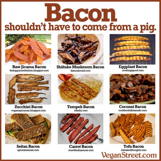 bacons végétaliens