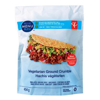 Menu bleu - Hachis végétarien