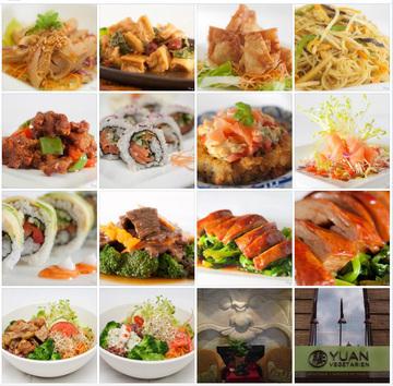 Quelques exemples de plats que l'on peut déguster au Yuan.