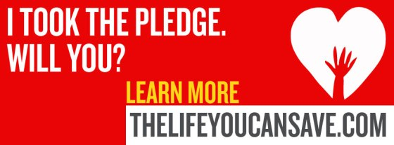 The Life You Can Save - The Pledge
