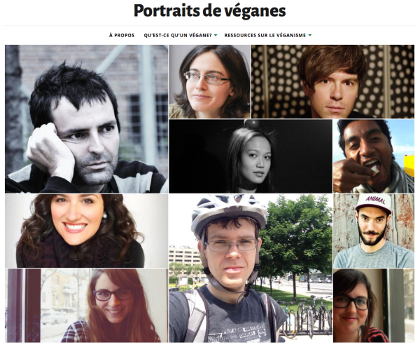 Portraits de véganes - accueil