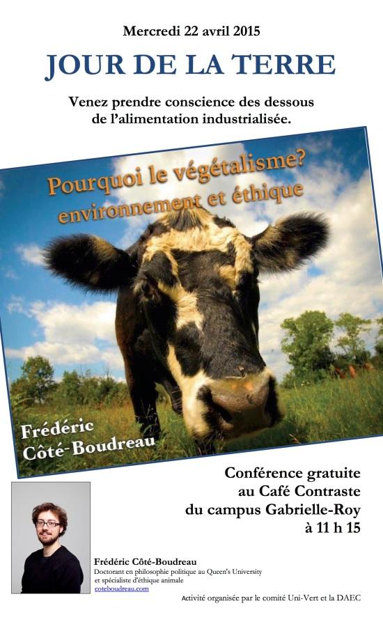 Affiche conf FrédéricCB - Cégep de l'Outaouais