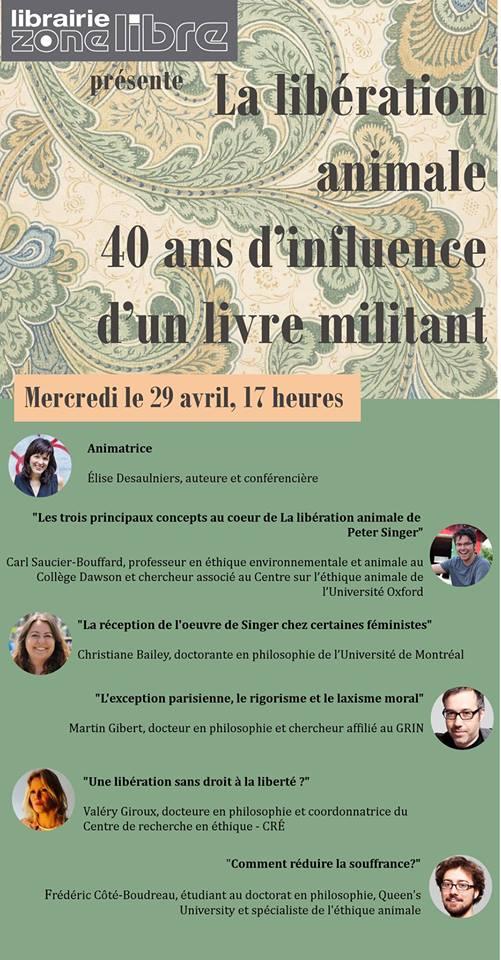 Libération animale 40 ans - Zone Libre